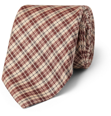 Gucci Plaid Wool-Blend Tie