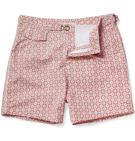 Chucs Mid-Length Printed Swim Shorts
