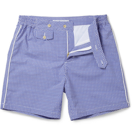 Chucs Positano Mid-Length Printed Swim Shorts
