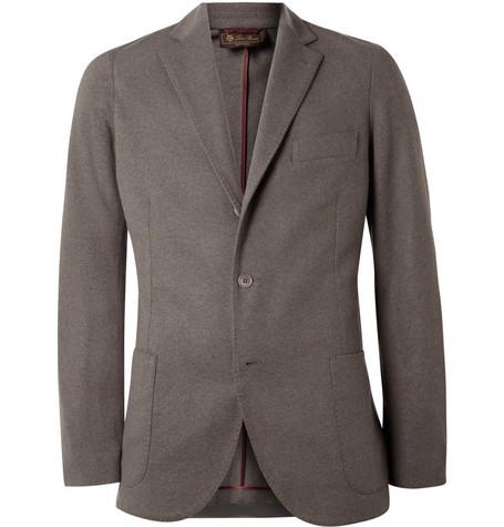 Loro Piana Slim-Fit Baby Cashmere and Suede Blazer