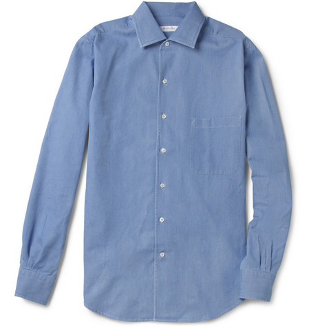 Loro Piana Washed Cotton-Chambray Shirt