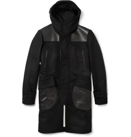 Alexander McQueen Hooded Wool and Cashmere-Blend Donkey Coat