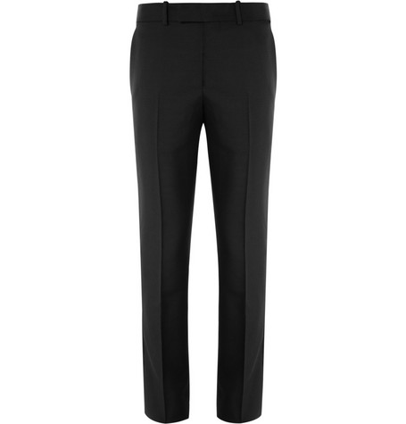 Alexander McQueen Wool and Mohair-Blend Tuxedo Trousers