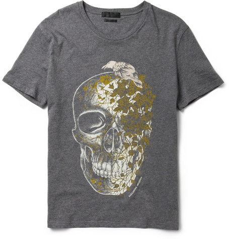 Alexander McQueen Skull and Ivy-Print Cotton T-Shirt