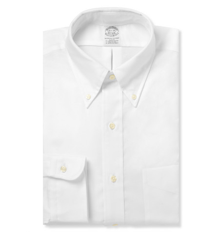 Brooks Brothers White Button-Down Cotton Oxford Shirt