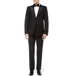 Brooks Brothers White Bib-Front Cotton Tuxedo Shirt