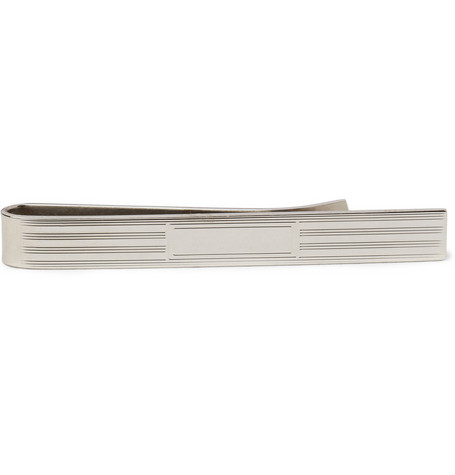 Brooks Brothers Engraved Sterling Silver Tie Clip