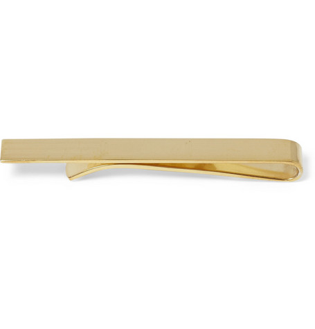 Brooks Brothers Engraved Gold-Plated Tie Clip