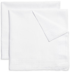 Brooks Brothers Set-of-Six Hand-Rolled Cotton Handkerchiefs