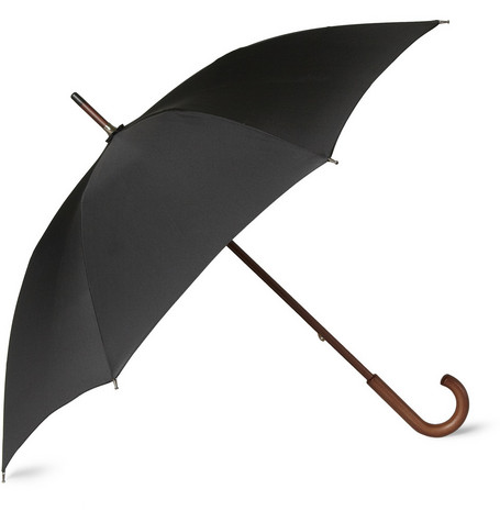 Brooks Brothers Wooden-Handle Umbrella