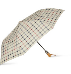 Brooks Brothers Windowpane-Checked Automatic Umbrella