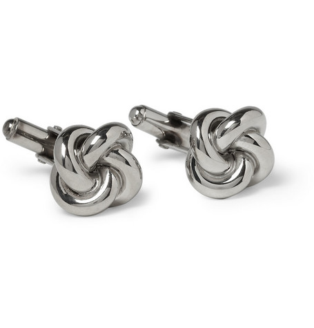 Brooks Brothers Knot Silver T-Bar Cufflinks