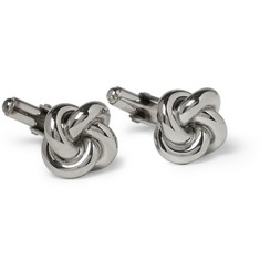 Brooks Brothers Knot Sterling Silver T-Bar Cufflinks