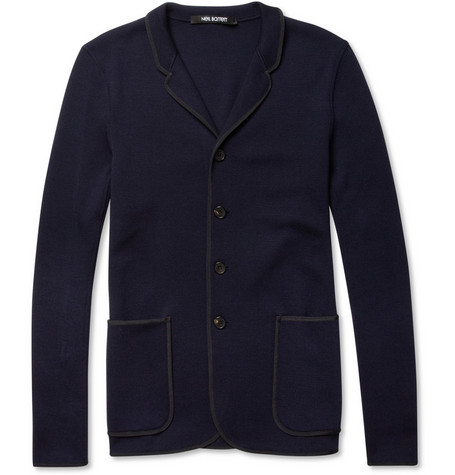 Neil Barrett Notch Rever Slim-Fit Knitted Wool Blazer