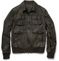 Neil Barrett - Leather-Front Bomber Jacket