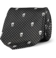 Alexander McQueen - Slim Skull-Embroidered Woven-Silk Tie