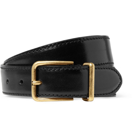 Alexander McQueen Patent-Leather Belt