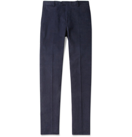 Brioni Brushed Cotton-Twill Trousers