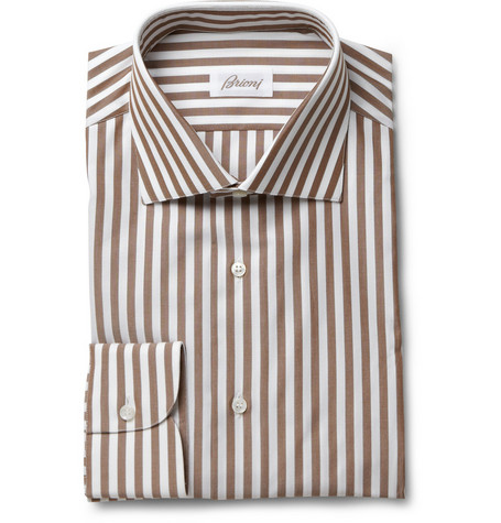 Brioni Bengal Stripe Cotton Shirt