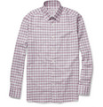 Brioni - Plaid Brushed-Cotton Shirt