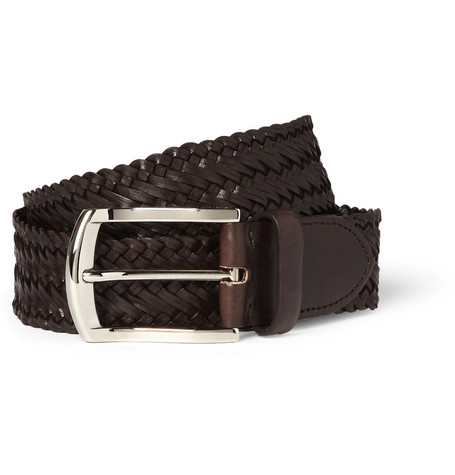Brioni Woven-Leather Belt