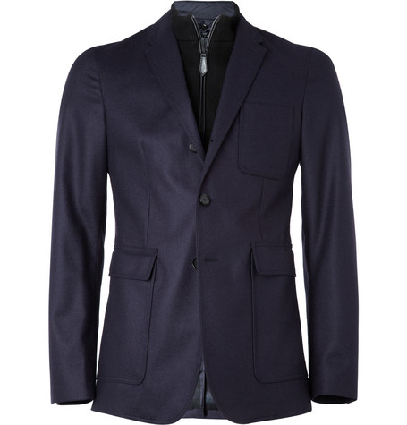 Burberry London Wool Blazer with Detachable Front
