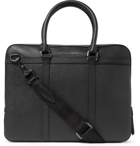Burberry Shoes & Accessories Full-Grain Leather Briefcase