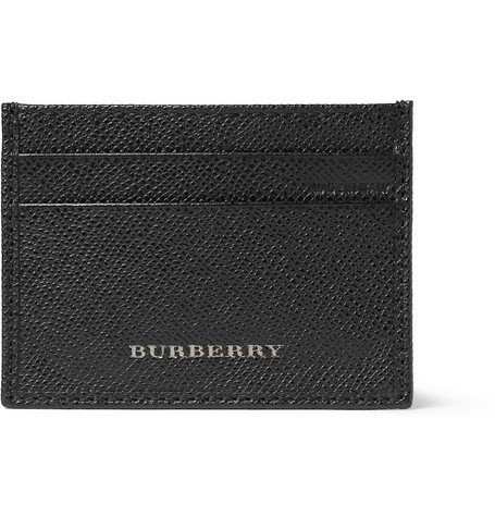 Burberry Shoes & Accessories Cross-Grain Leather Card Holder