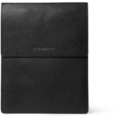 Burberry Shoes & Accessories Cross-Grain Leather iPad Case