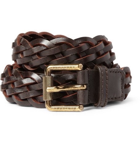 Burberry Shoes & Accessories Woven-Leather Belt