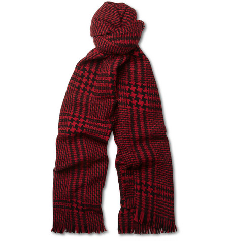Burberry Shoes & Accessories Merino Wool and Cashmere-Blend Prince of Wales Check Scarf