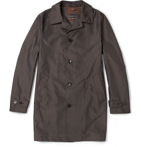 Canali Water-Resistant Trench Coat