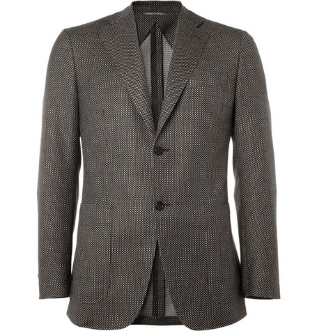 Canali Kei Unstructured Pin Dot Wool Blazer