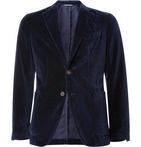 Canali Unstructured Slim-Fit Velvet Blazer