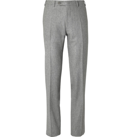 Canali Straight-Leg Wool-Flannel Trousers