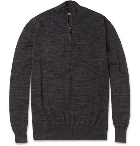 Canali Zip-Collar Wool Sweater
