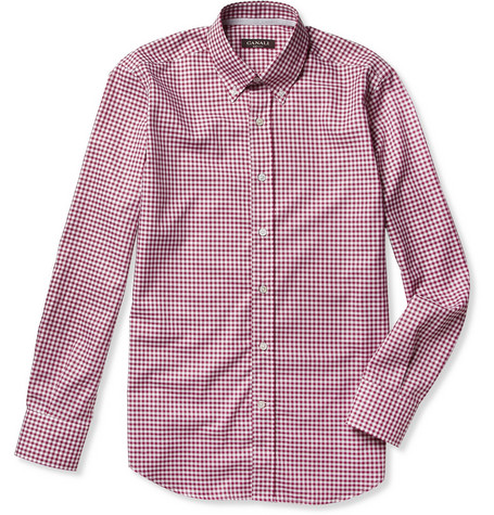 Canali Button-Down Collar Cotton Shirt