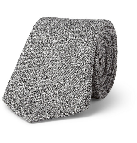 Canali Flecked Wool and Silk-Blend Tie