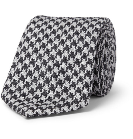 Canali Houndstooth Silk and Wool-Blend Tie