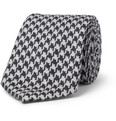 Canali - Houndstooth Silk and Wool-Blend Tie