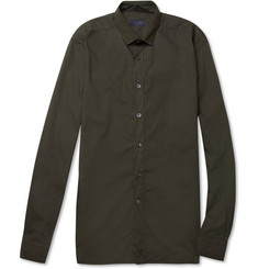 Lanvin Contrast-Collar Cotton Shirt