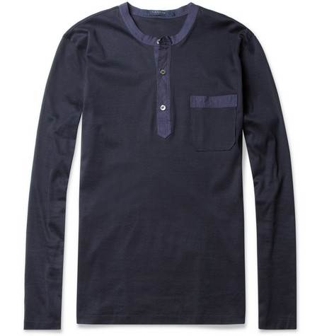 Lanvin Long-Sleeved Henley T-Shirt