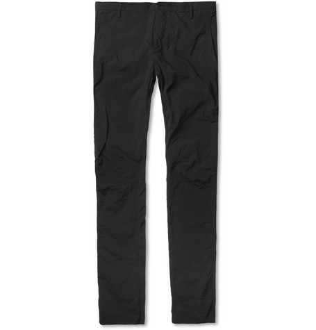 Lanvin Slim-Fit Washed-Nylon Biker Trousers