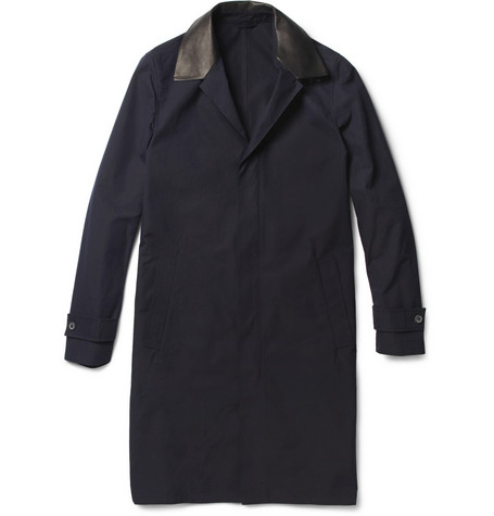 Lanvin Leather-Trimmed Cotton Coat