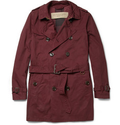 Burberry Brit Garment-Dyed Cotton Trench Coat