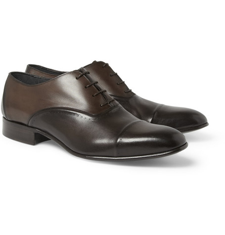 Lanvin Perforated Leather Oxford Shoes