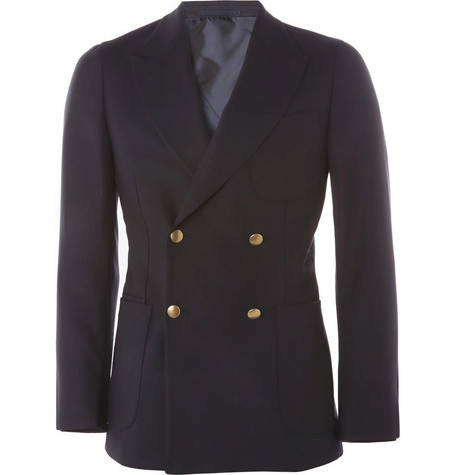Yves Saint Laurent Double-Breasted Wool Blazer