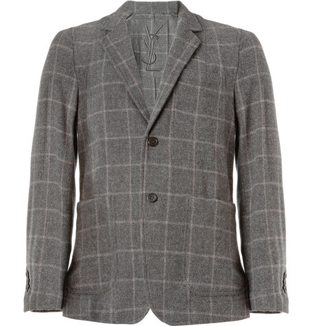 Yves Saint Laurent Unstructured Wool and Cashmere-Blend Blazer