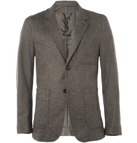 Yves Saint Laurent Unstructured Tweed Blazer