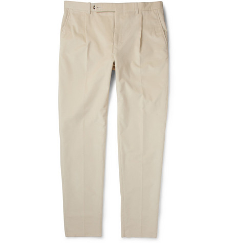 Yves Saint Laurent Pleated Corduroy Trousers